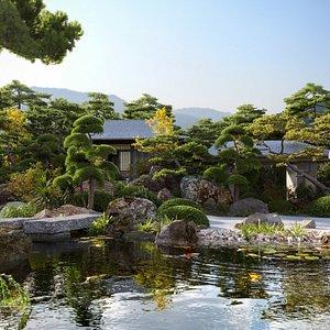 Bundle 06 - Japanese garden 3D model