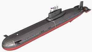 typhoon class submarine model