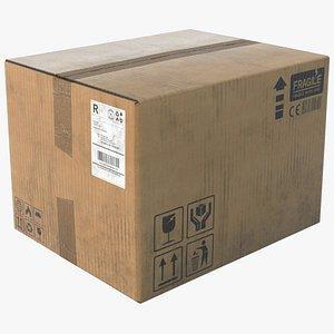 3D model cardboard box board