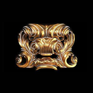 Classic carved 068 3D model