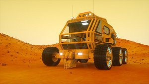 3D model mars vehicle