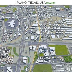 3D Plano Texas USA model