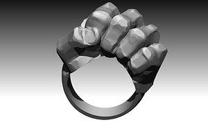 solid pendant ring 3D model