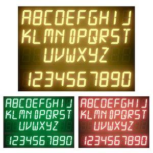 Light modules Set 097 Alphabet 3D model