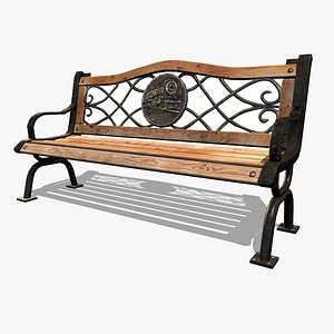 park bench iron 3D model