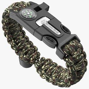 Atomic Bear Tactical Paracord Bracelet Camo model
