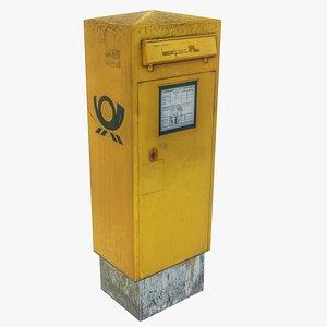 German Mailbox lowpoly 3D model