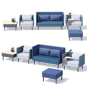 3D royal ahrend lounge