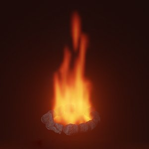 bonfire flame model