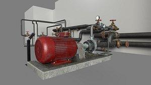 3D industrial pump model