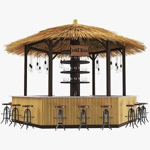 real beach bar 3D model