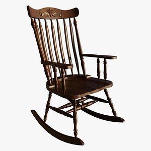 vintage wooden rocking chair model