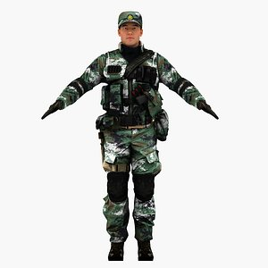 pla chinese soldier 3D model