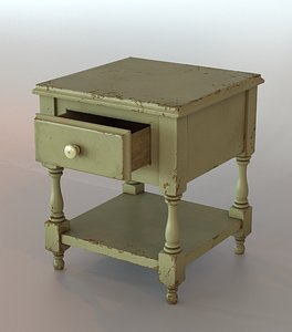 old table wood model