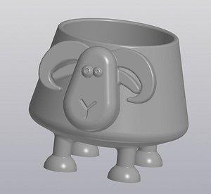 Flowerpot Crazy Ram 3D model