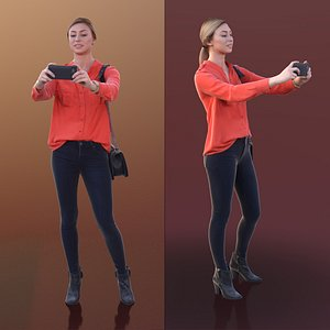 3D 10266 Ramona - Young Woman Taking Picture With Her Phone
