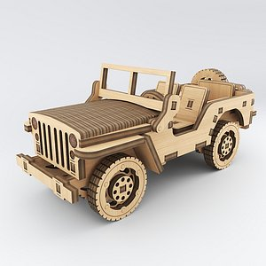 3D car wood wooden