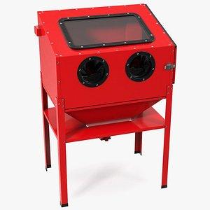Sandblast Cabinet Red 3D