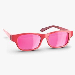 Pink Glasses 3D model