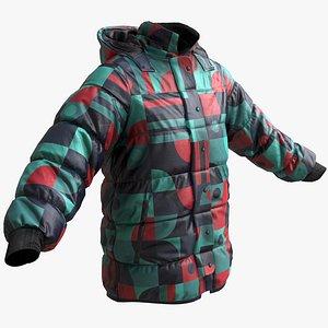 winter jacket 3D model
