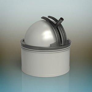3D building observatory architecture model