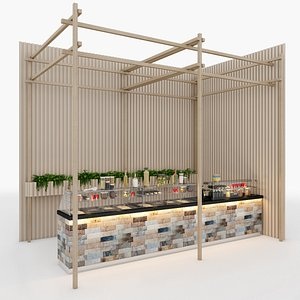 counter table 3D