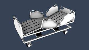 hospital bed 21-18-5-2HOSPITAL BED 3D model