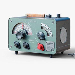 3D Vintage radio station