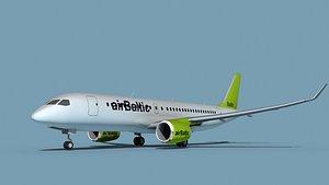 Bombardier CS100 Air Baltic model