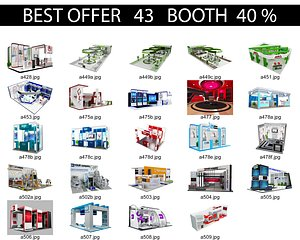 3D Booth Exhibition Stand x1