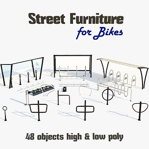 3D collections street furnitures shelters