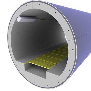 tunnel sewer underground 3D