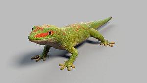3D model gecko rigged