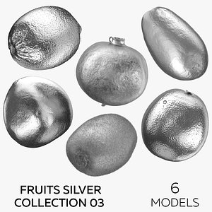 3D model Fruits Silver Collection 03 - 6