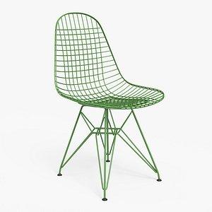 3D model Wire Chair DKR Green - PBR