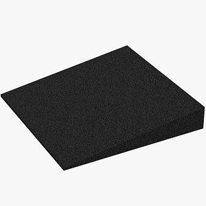 Acoustic foam section Micropor square 3D