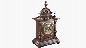 3D Antique Clock 19th century