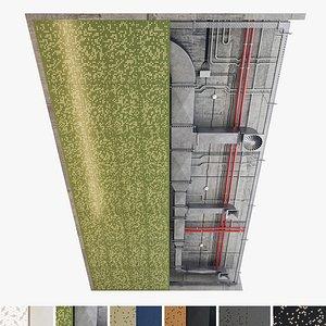 Decorative Ceiling Set 05 3D