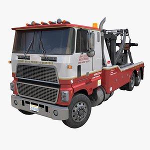 3D 80s American tow truck PBR model