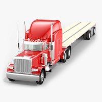 Flatbed Semi-trailer Truck