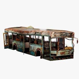 Destroyed Bus 3D model