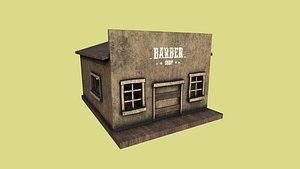 western barber shop - 3D model