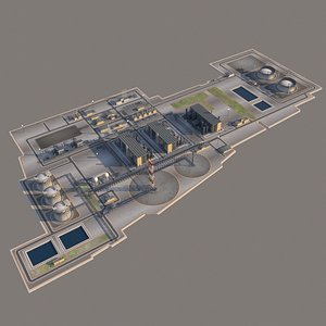 3D port lng plant oil