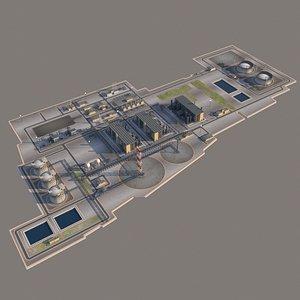 3D port lng plant oil