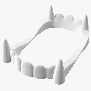 Vampire Teeth White 3D model