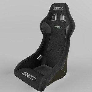 3D Sparco QRT-K CARBON KEVLAR Racing Seat Suede model