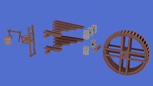 watermill barrel crate 3D model