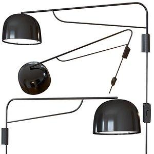 3D grant wall lamp 111 model