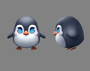 3D Cartoon baby penguin - male - lovely