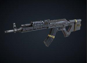 R6 M762 Assault Rifle model